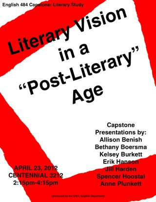 April23EnglishDepartmentLiteraryCapstoneFlyer