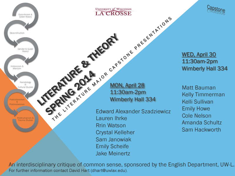 ENG LIT Capstone Flyer SPRING 2014