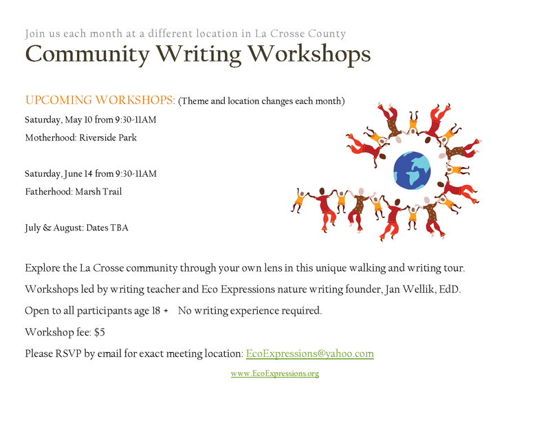 Community Writing Workshops flyer