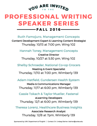 PW Fall 2016 Speakers Series