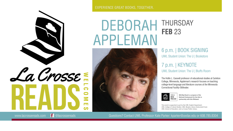 La Crosse Reads-Deborah Appleman-Digital Sign
