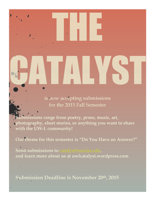 Call for submissions catayst 2015