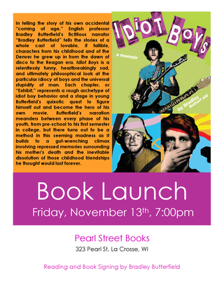 Butterfield Book Launch Flyer