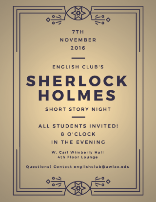 English Club Sherlock Holmes Night Flyer